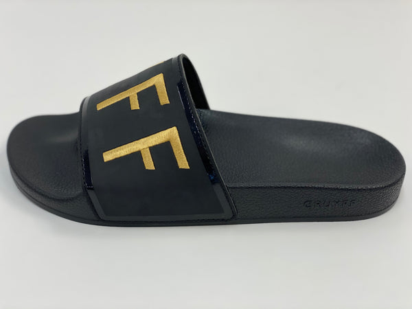 Black/Gold Logo Slides Cruyff.