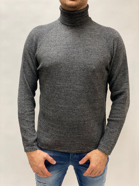 Lamp Roll Neck Knit Gabba Grey.
