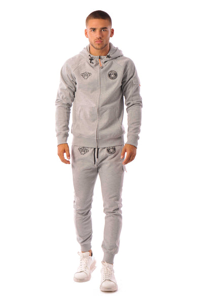 Striker Tracksuit Grey Black Bananas
