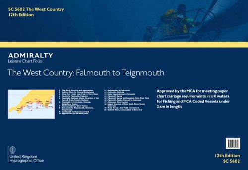 Admiralty Leisure Chart Folio - SC5602 The West Country: Falmouth to Teignmouth