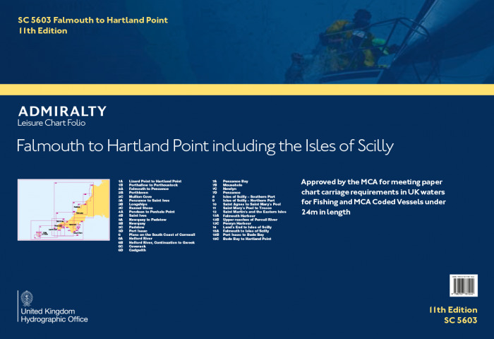 Admiralty Leisure Chart Folio - SC5603 Falmouth to Hartland Point including the Isles of Scilly