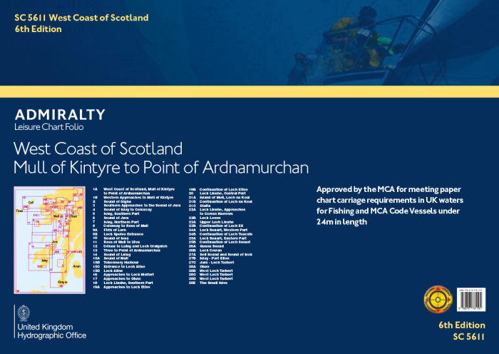 Admiralty Leisure Chart Folio - SC5611 Mull of Kintyre to Point of Ardnamurchan