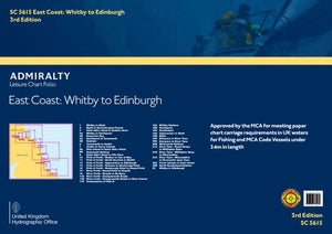 Admiralty Leisure Chart Folio - SC5615 East Coat - Whitby to Edinburgh
