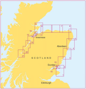 Admiralty Leisure Chart Folio - SC5617 Scotland - East Coast - Fife Ness to Inverness and the Caledonian Canal