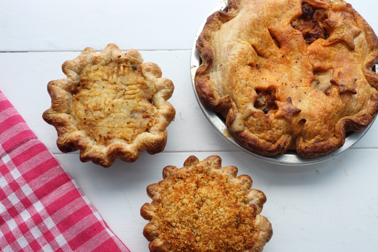 3 Savory pies from Gabi & Jules Bakery and Cafe in Port Moody British Columbia