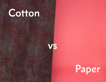 Cotton Muslin vs Paper Backdrops