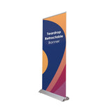 "Teardrop Retractable Banner Stands Size: 34.25"" W x 87"" H"