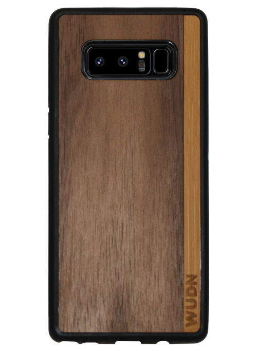 Slim Wooden Phone Case (Walnut / Bamboo Stripe)