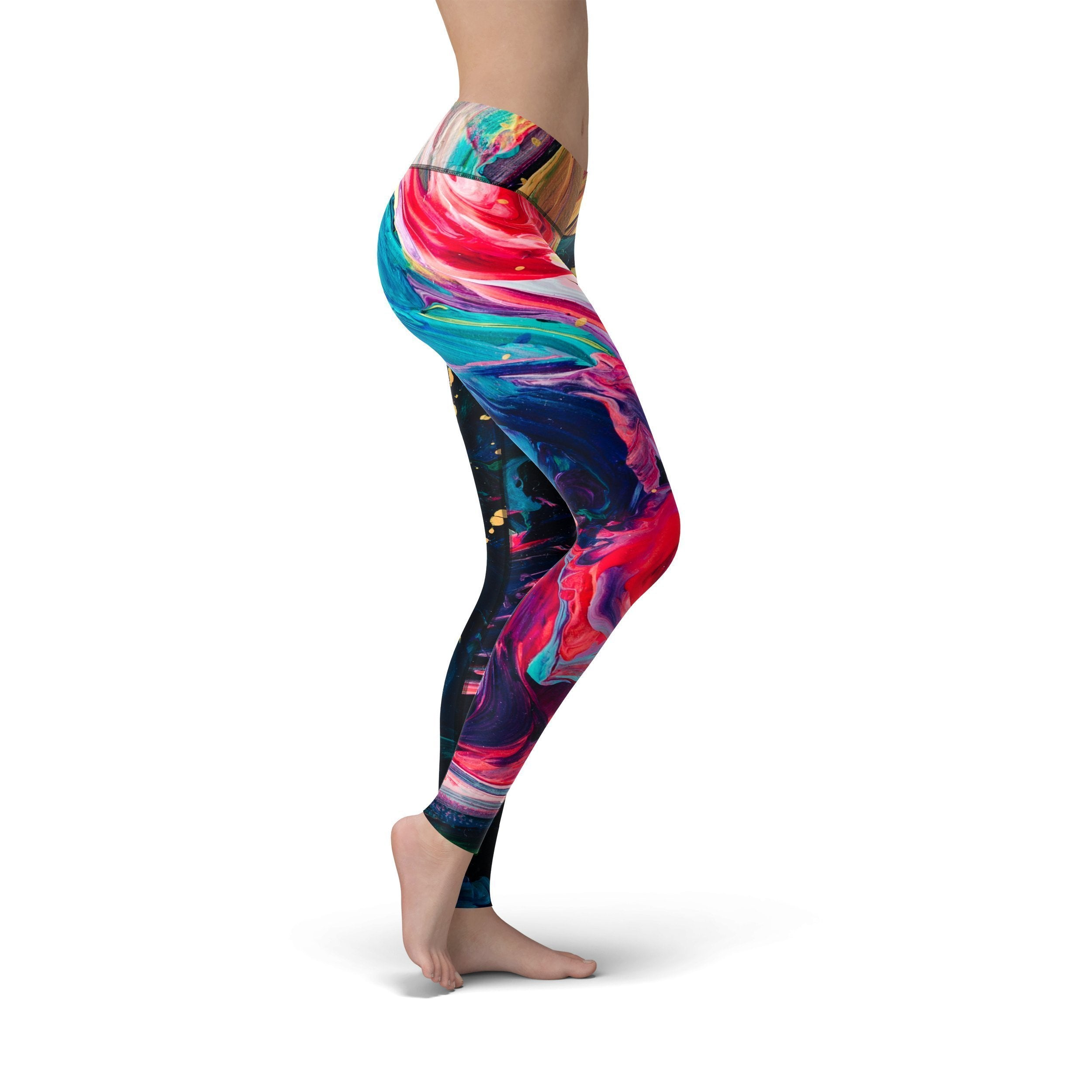 Jean Paint Stroke Leggings
