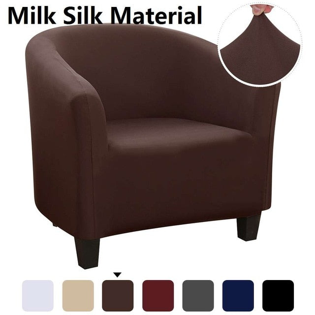 Stretch Sectional Elastic Coffee Tub Sofa Cover for Living Room 1 Seat Slipcover Single Seater Furniture Couch Armchair Cover