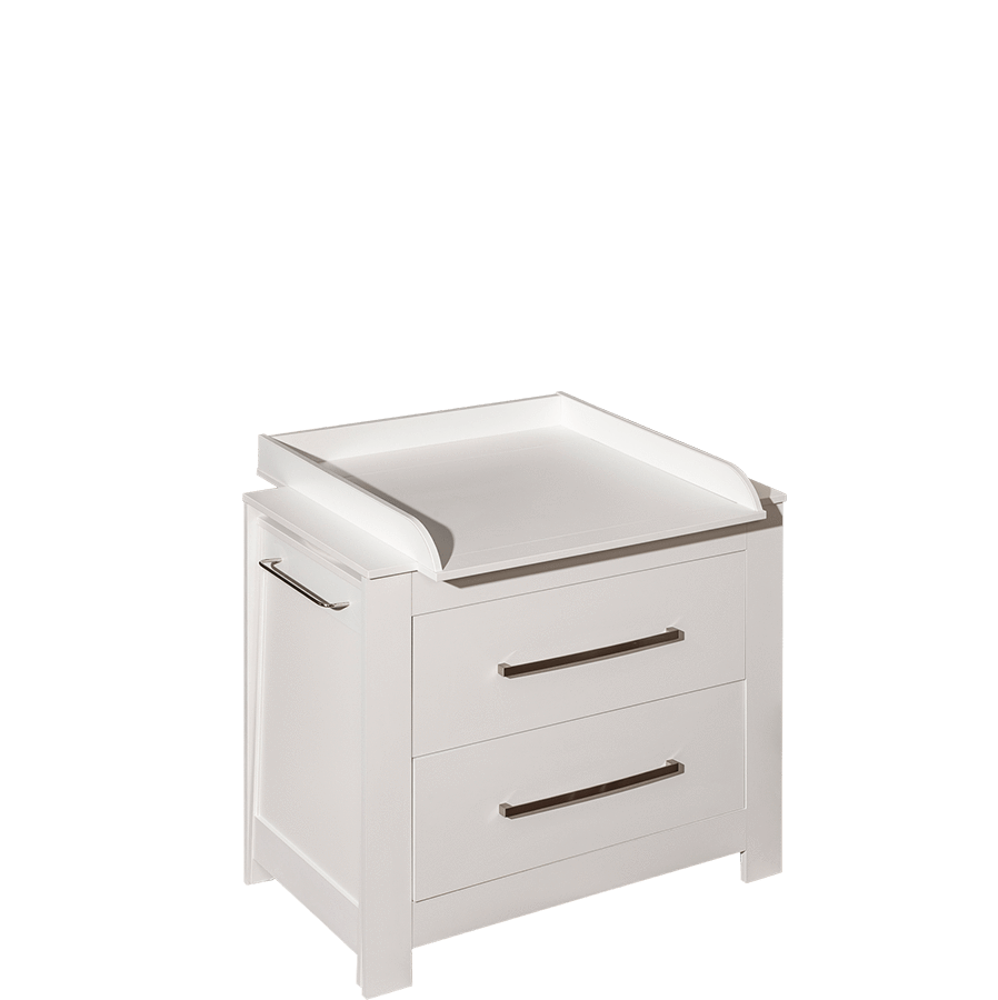 Chest of drawers with bath tub and changing table