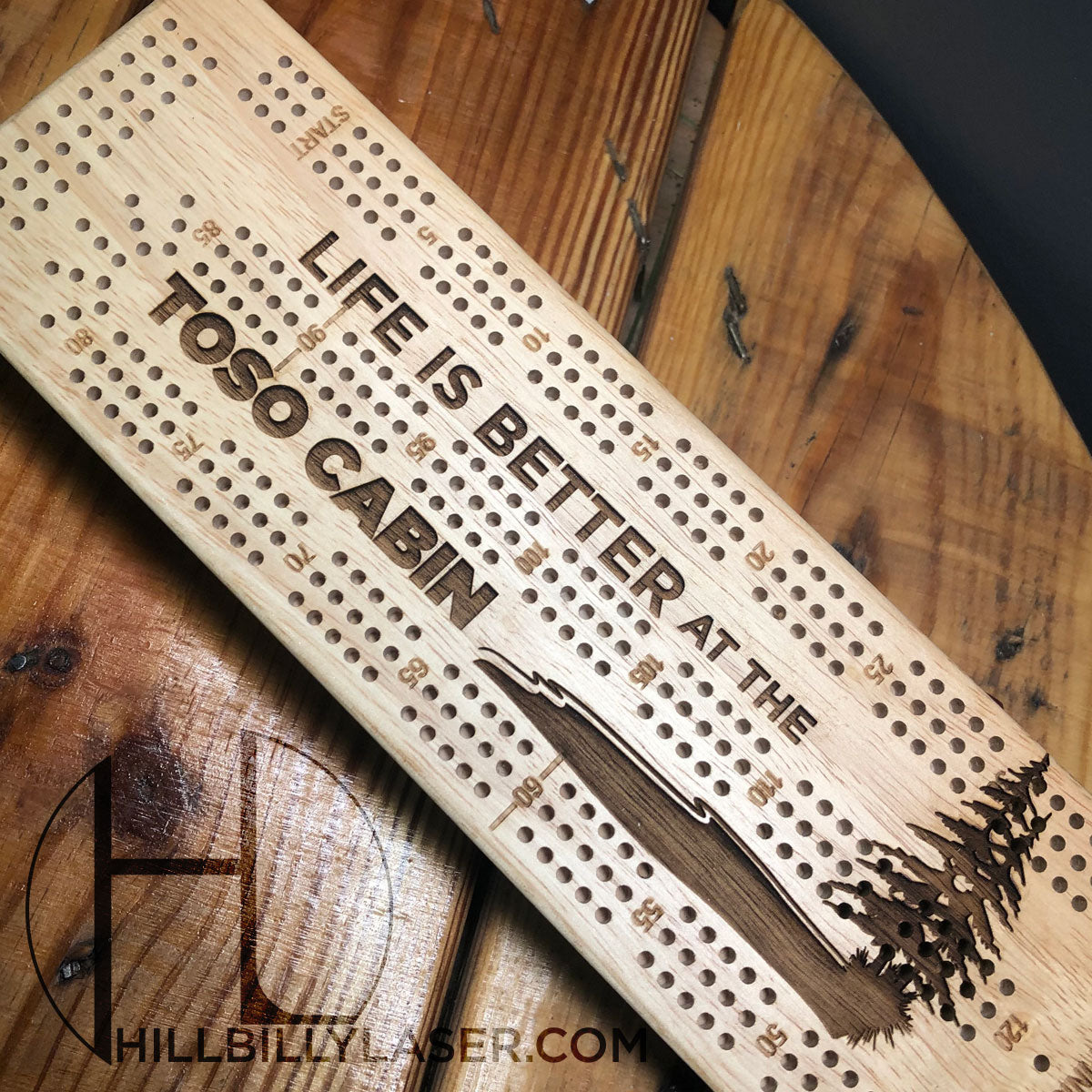 Cribbage Board - Hillbilly Laser