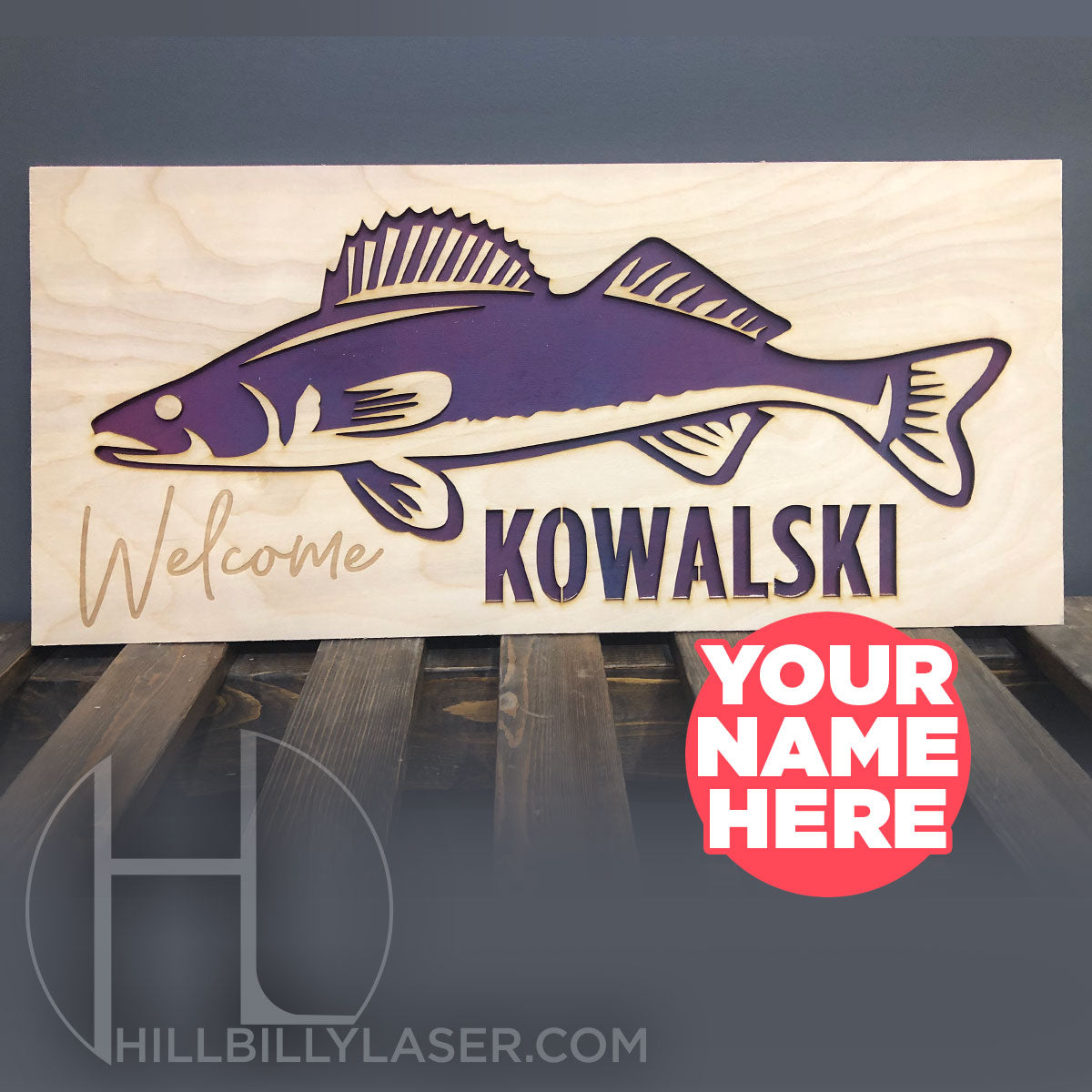 Custom Fish Signs - Hillbilly Laser