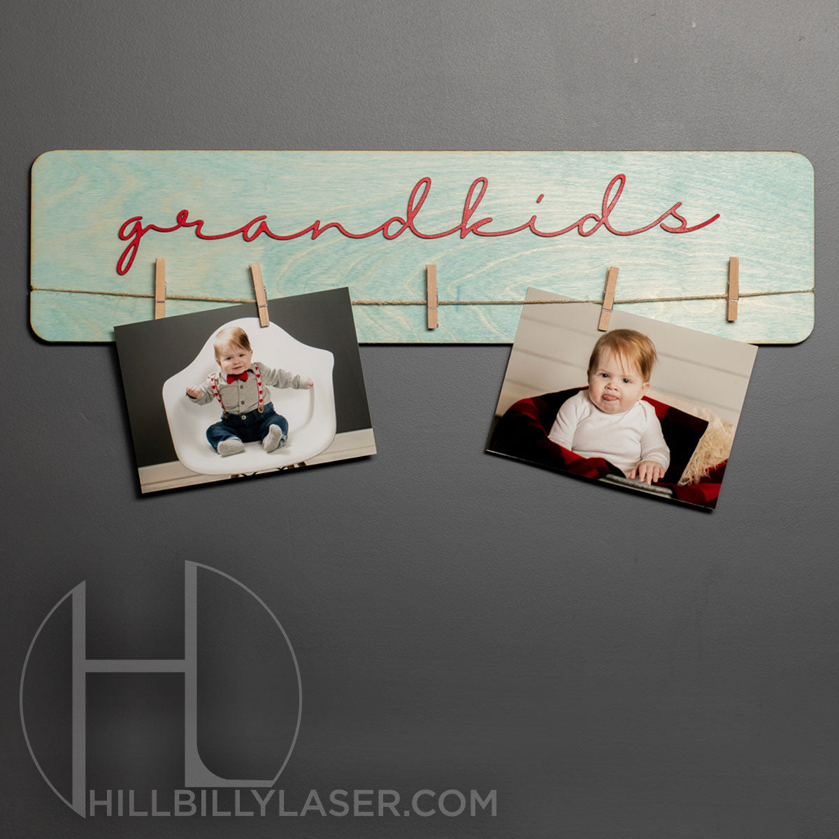 Grandchildren Photo Hanger - Hillbilly Laser