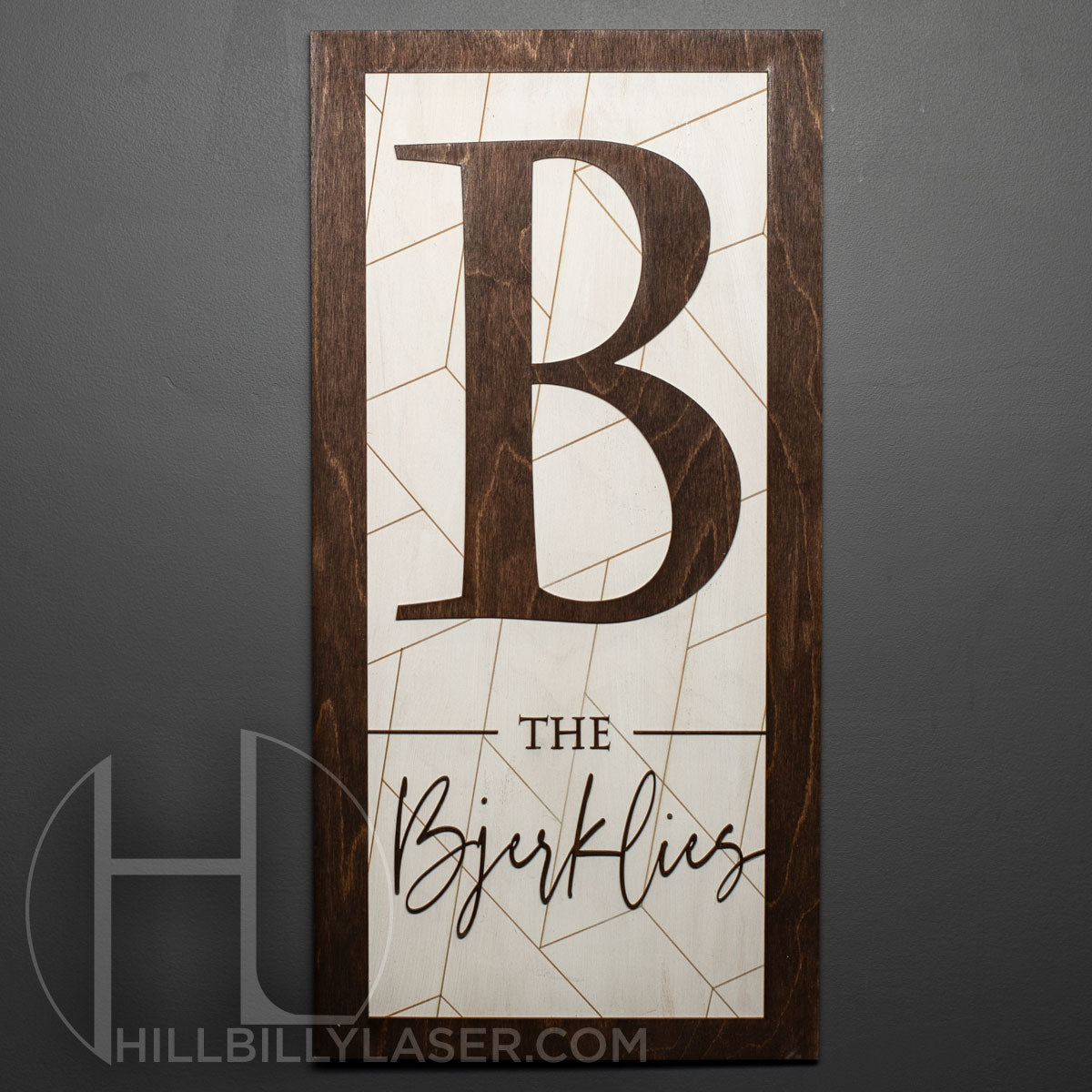 Simple Monogram Name Sign - Hillbilly Laser
