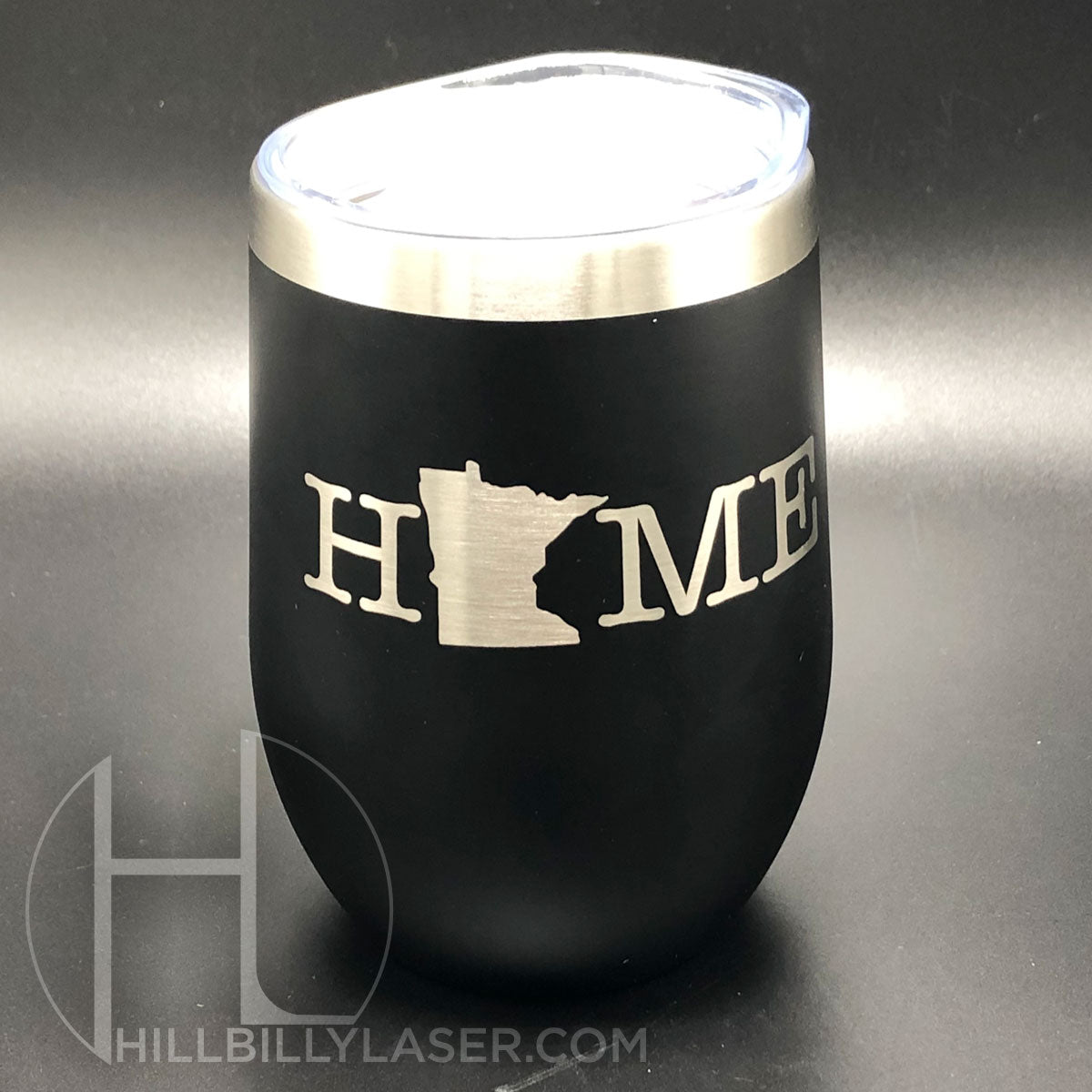 Stemless Stainless Wine Glass - Hillbilly Laser