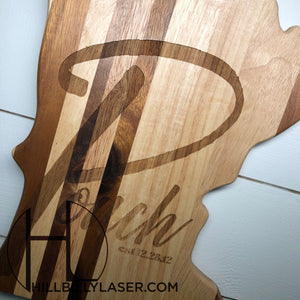 Shiplap Cutting Board - State Series - Hillbilly Laser