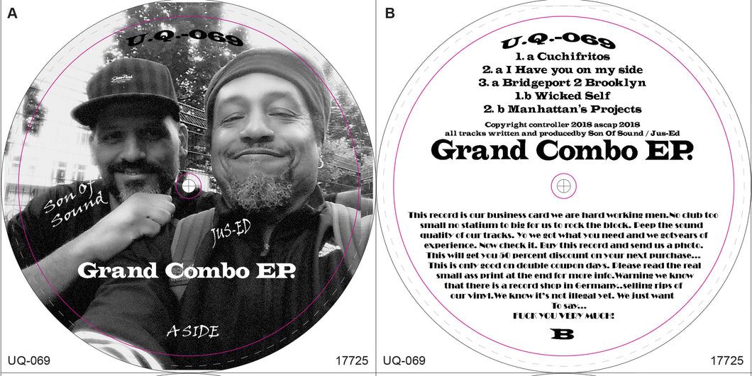 UQ-069 Grand Combo Ep Vinyl Record is BACK IN STOCK