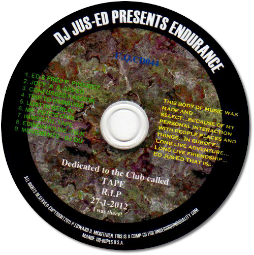 UQ-044 ENDURANCE R.I.P TAPE 27.01.2012 DIGITAL COMPILATION 3.99 per TRAX