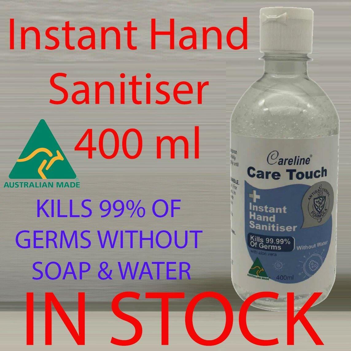 400ml Hand Sanitiser Rinse Free Antibacterial 70% ALCOHOL KILLS 99.99% GERMS - AUSTRALIAN MADE