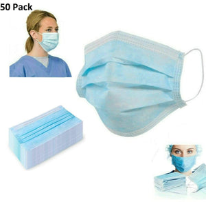 Nose & Mouth Mask With Earloops - Pack of 50