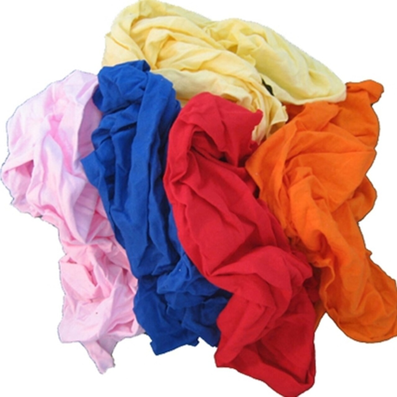 Coloured Soft Knit T-Shirt Material Rags - 15 kg