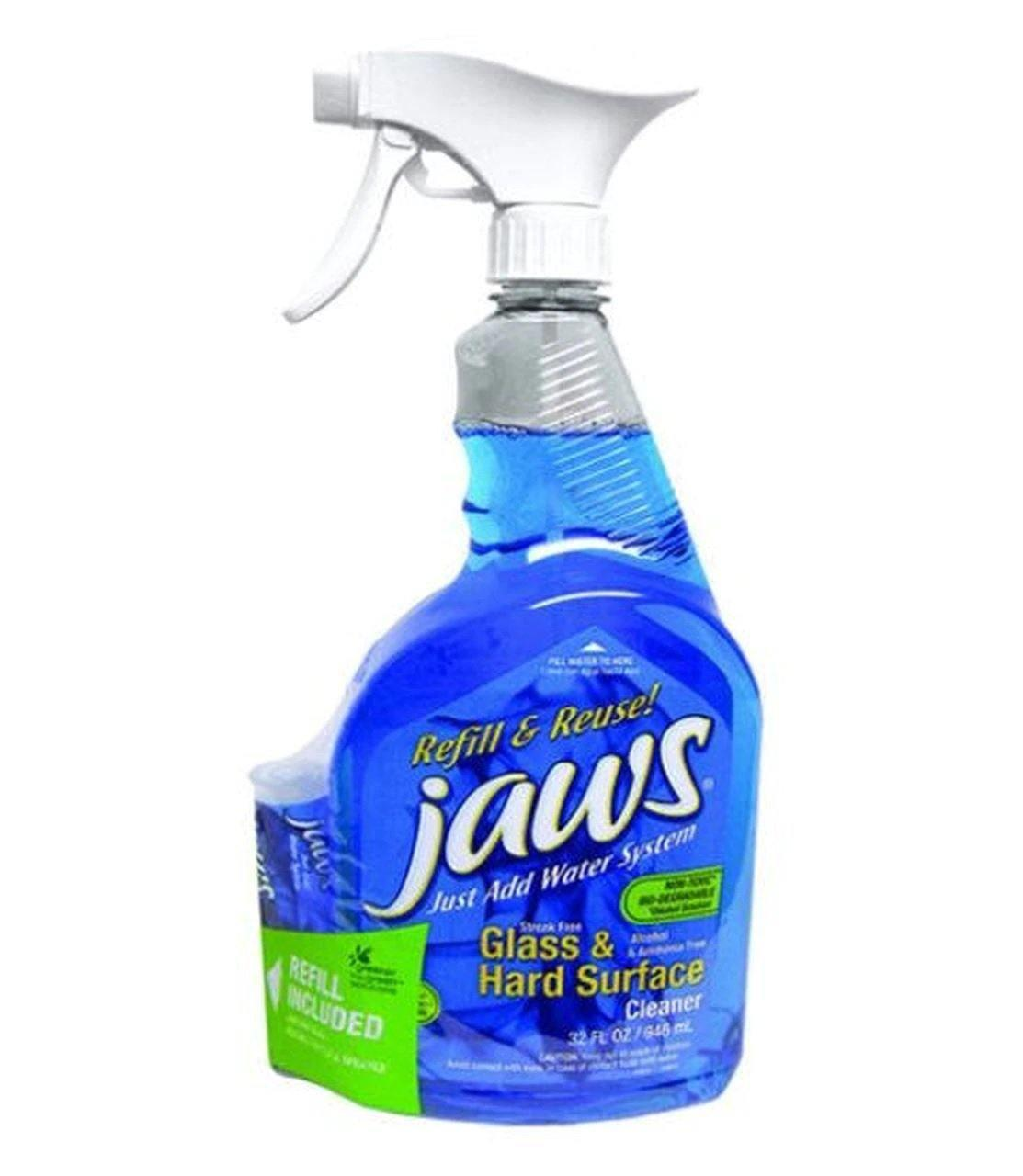 **BULK BUY** Jaws Glass & Hard Surface Cleaner/Degreaser - 6x 946ml +6x FREE refill cartridge
