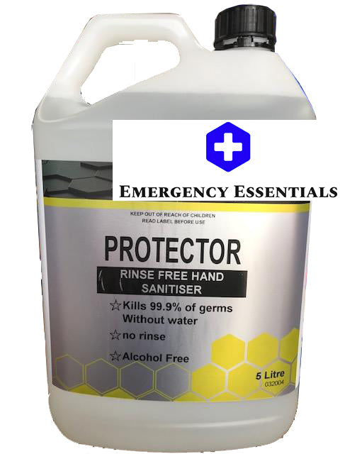Protector Hand Sanitiser Rinse Free KILLS 99.99% GERMS - 5 Litre