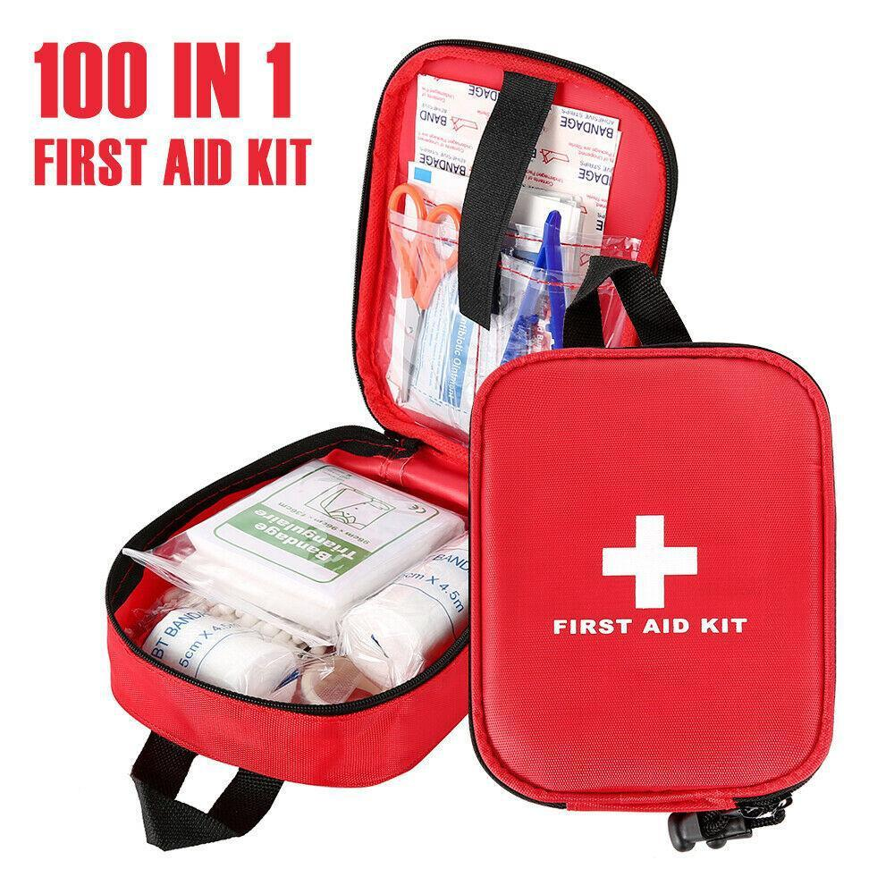 First Aid Kit 100pc  Emergency Home Travel Bag