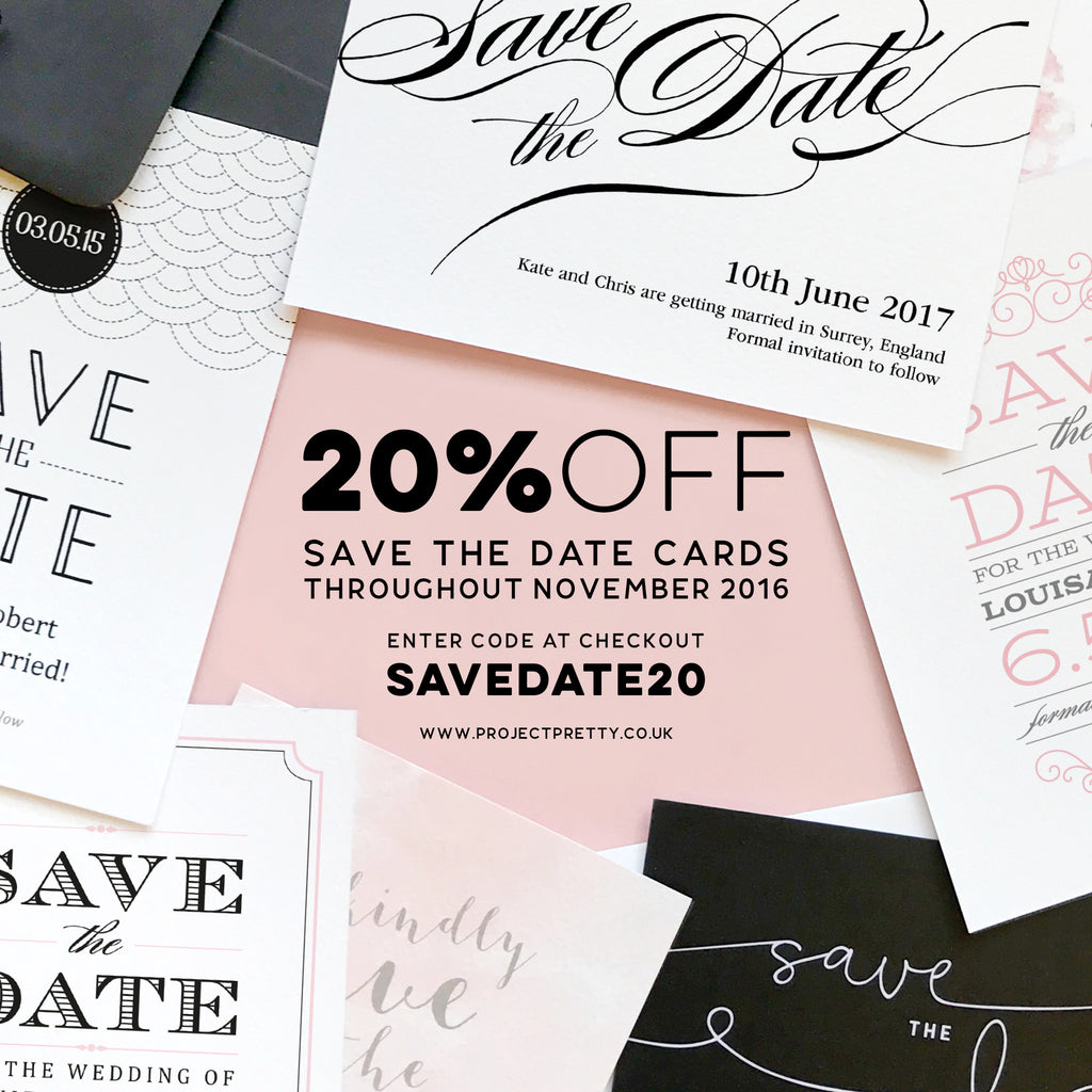 20% off Save the Date cards