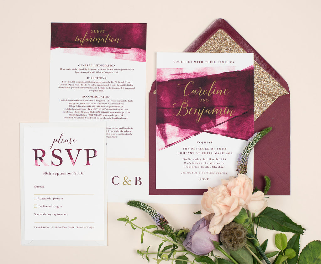 Why We Love Berry & Gold Themed Weddings – Project Pretty