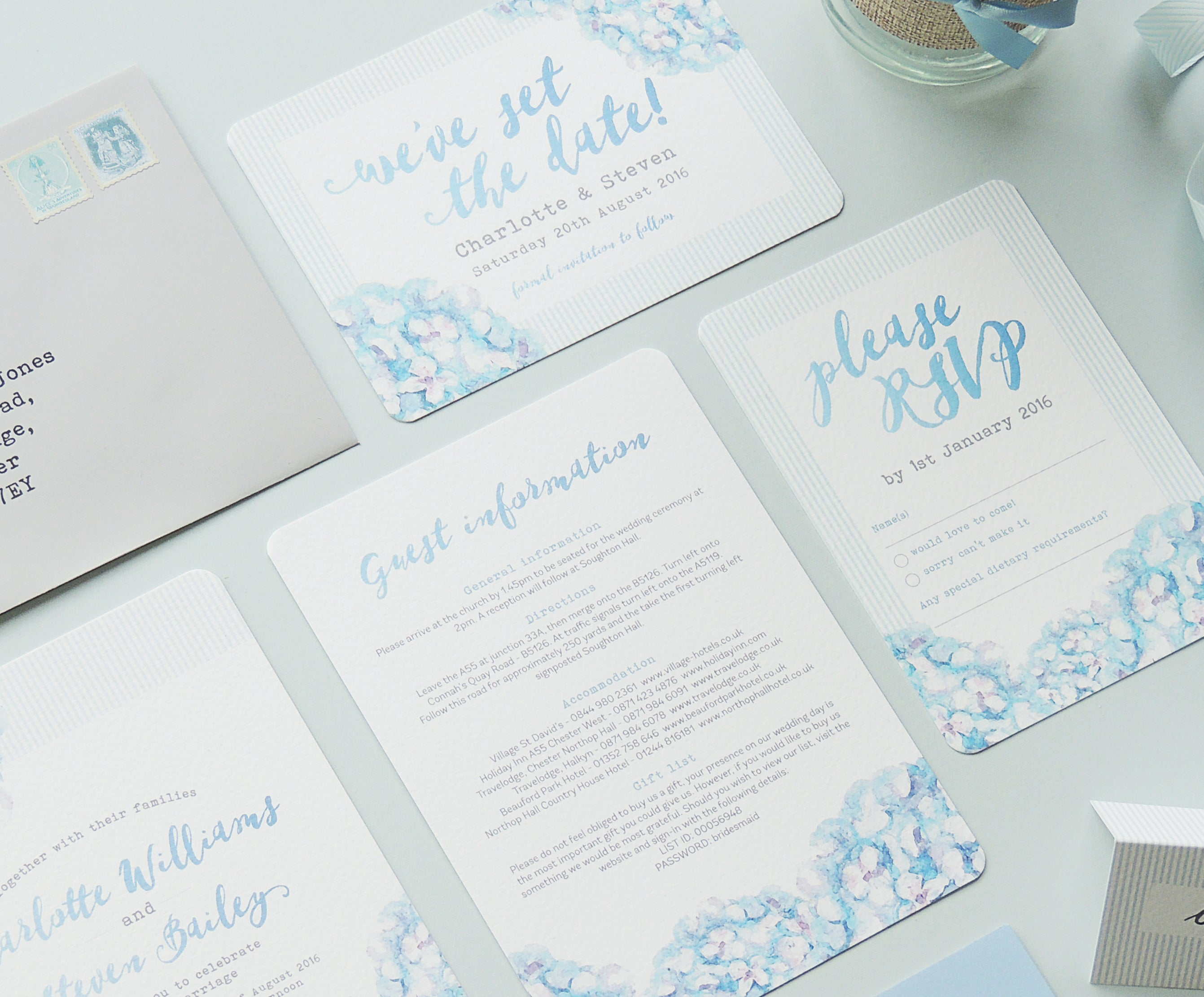 Project Pretty Hydrangea wedding invitations