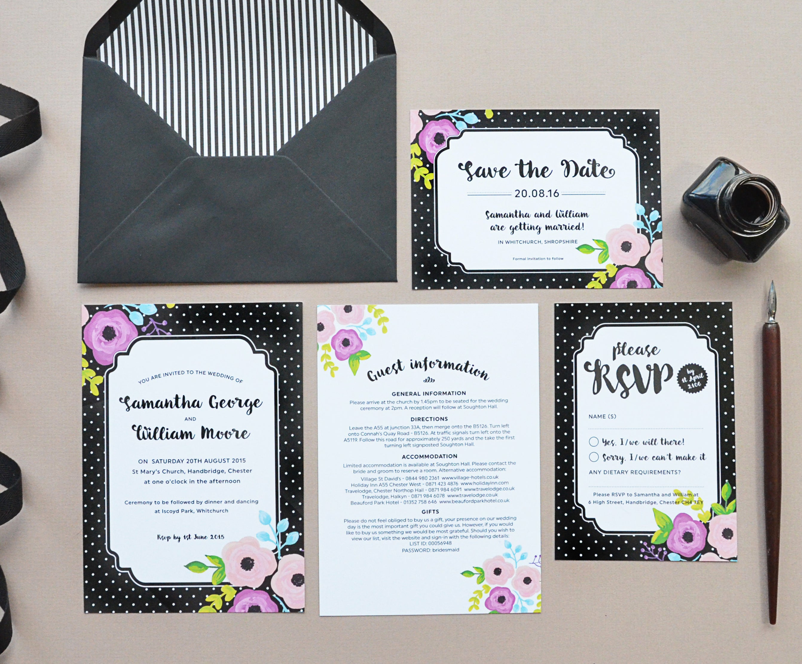Project Pretty Betty wedding invitations