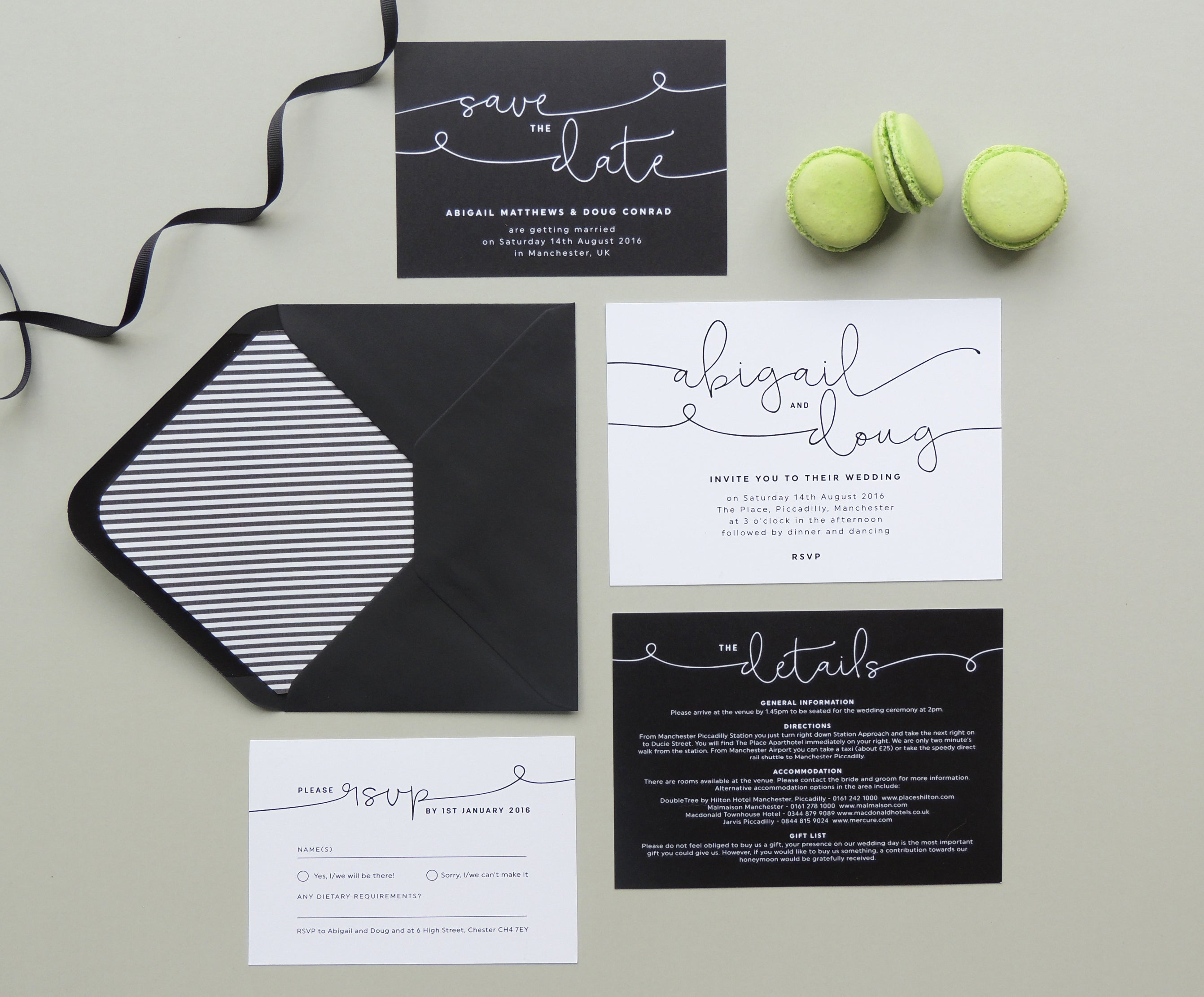 Project Pretty Kate wedding invitations