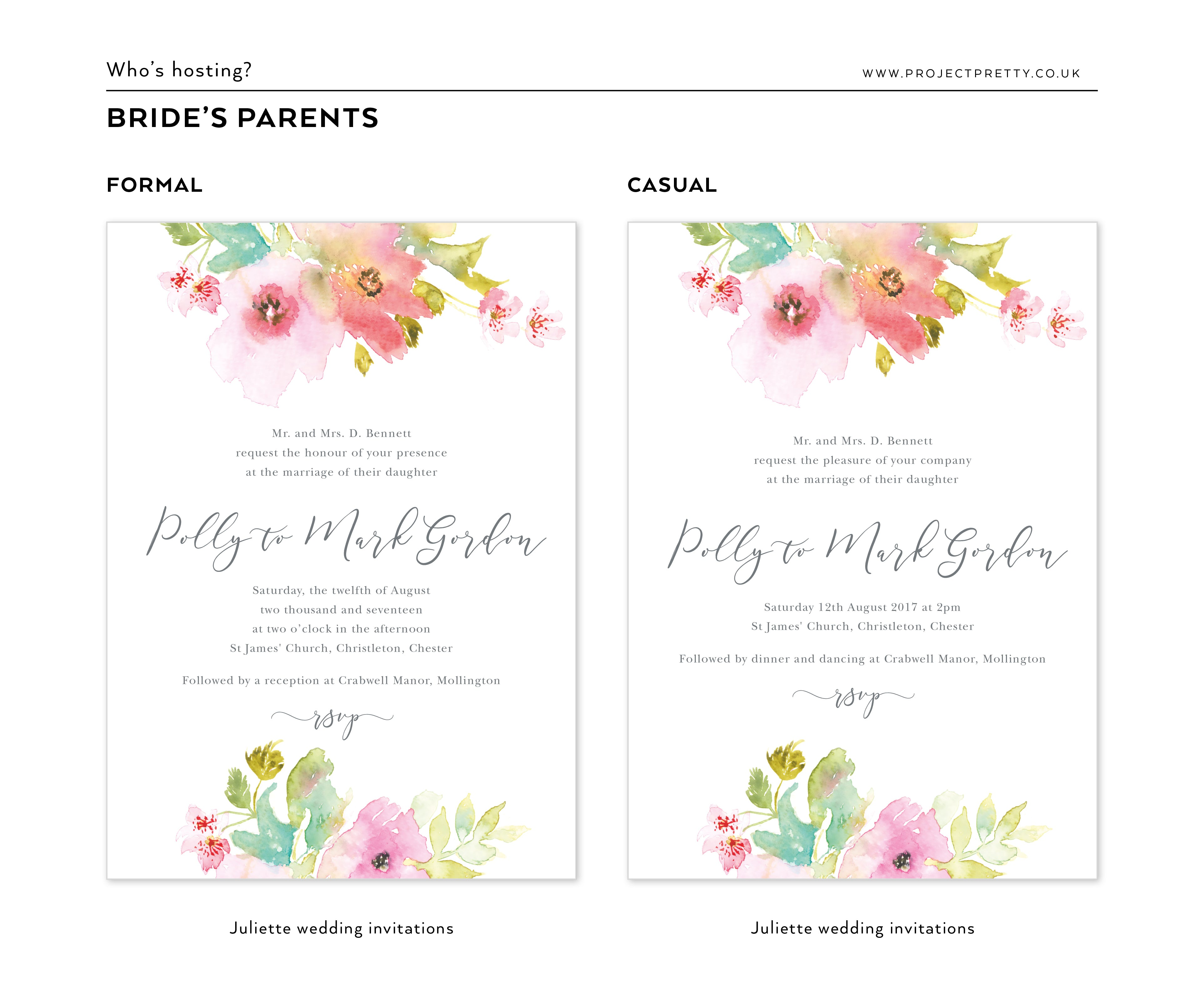 How to word your wedding invitations project pretty how to word your wedding invitations stopboris Gallery