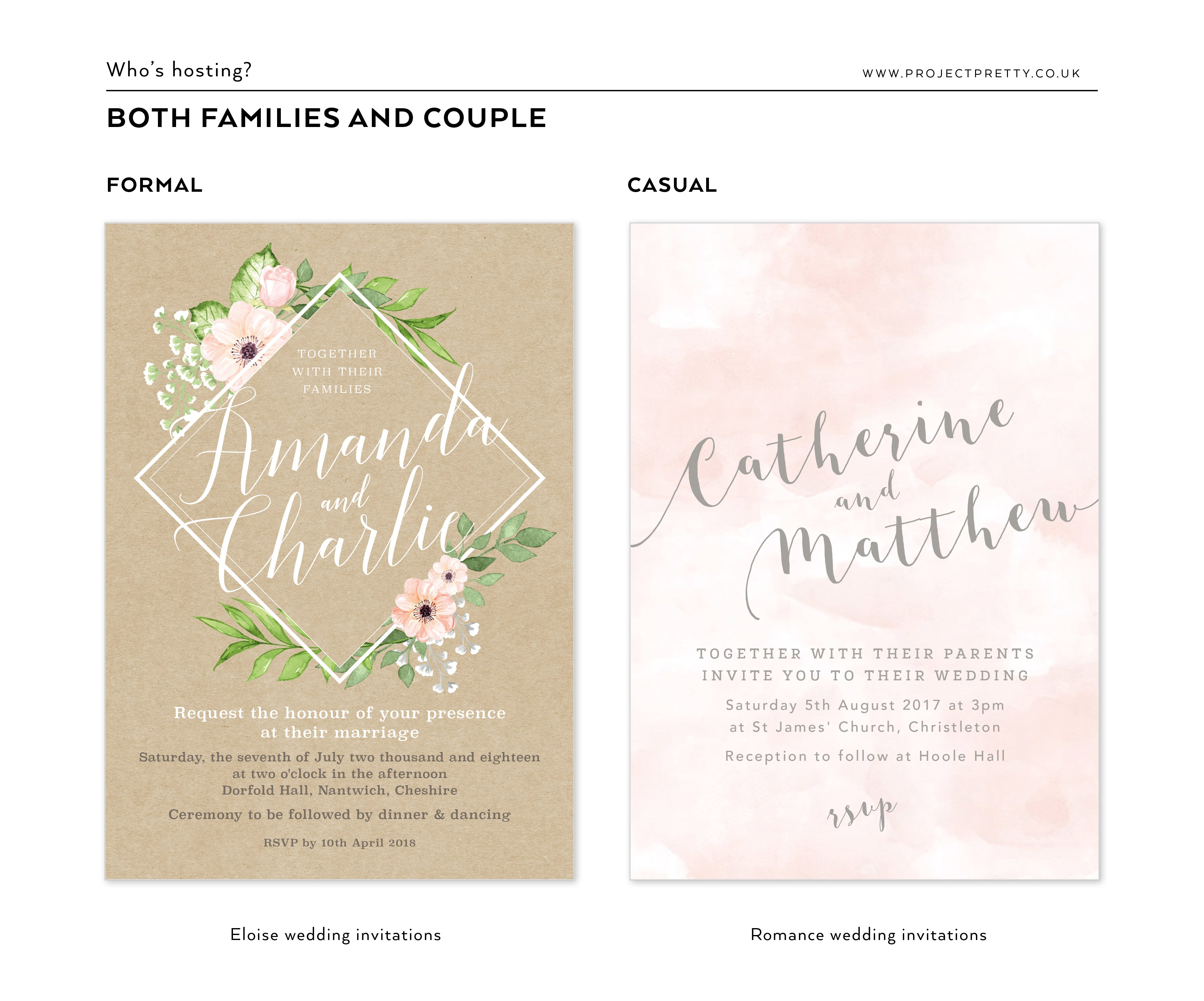 how to word your wedding invitations project pretty