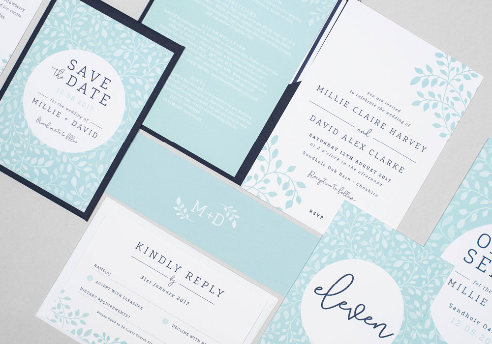 Alice wedding stationery collection