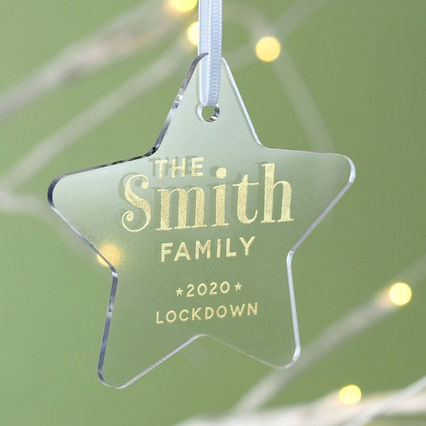 Star 2020 Lockdown Personalised Family Christmas Decoration