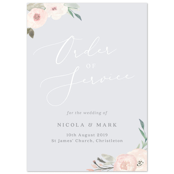 Ella Order of Service booklets
