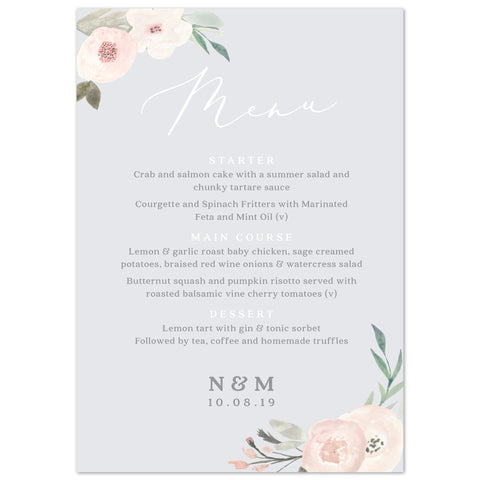 Ella Menu Cards
