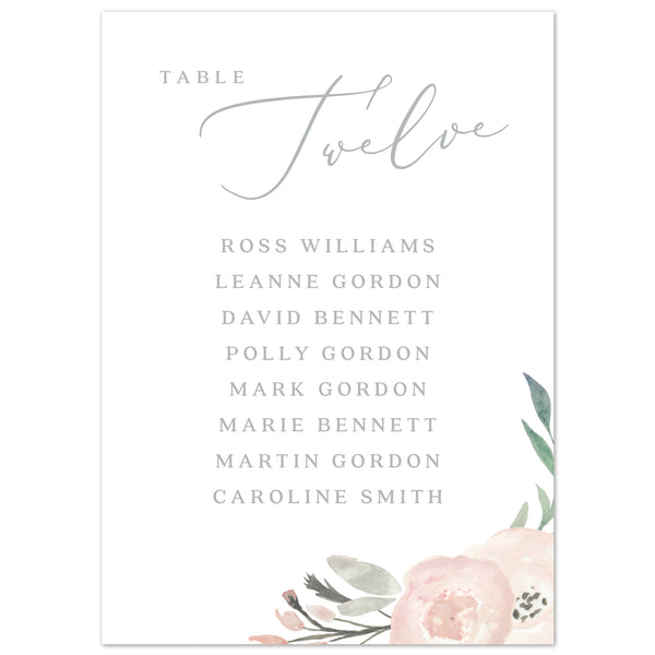 Ella table plan cards