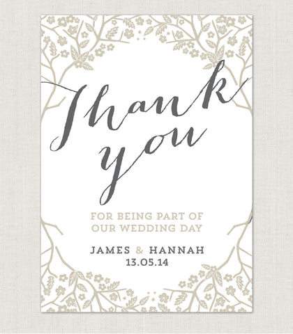 Enchanted Forest Thank You Card