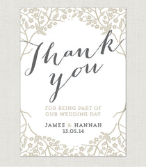 Enchanted Forest Thank You Card - Project Pretty  - 1