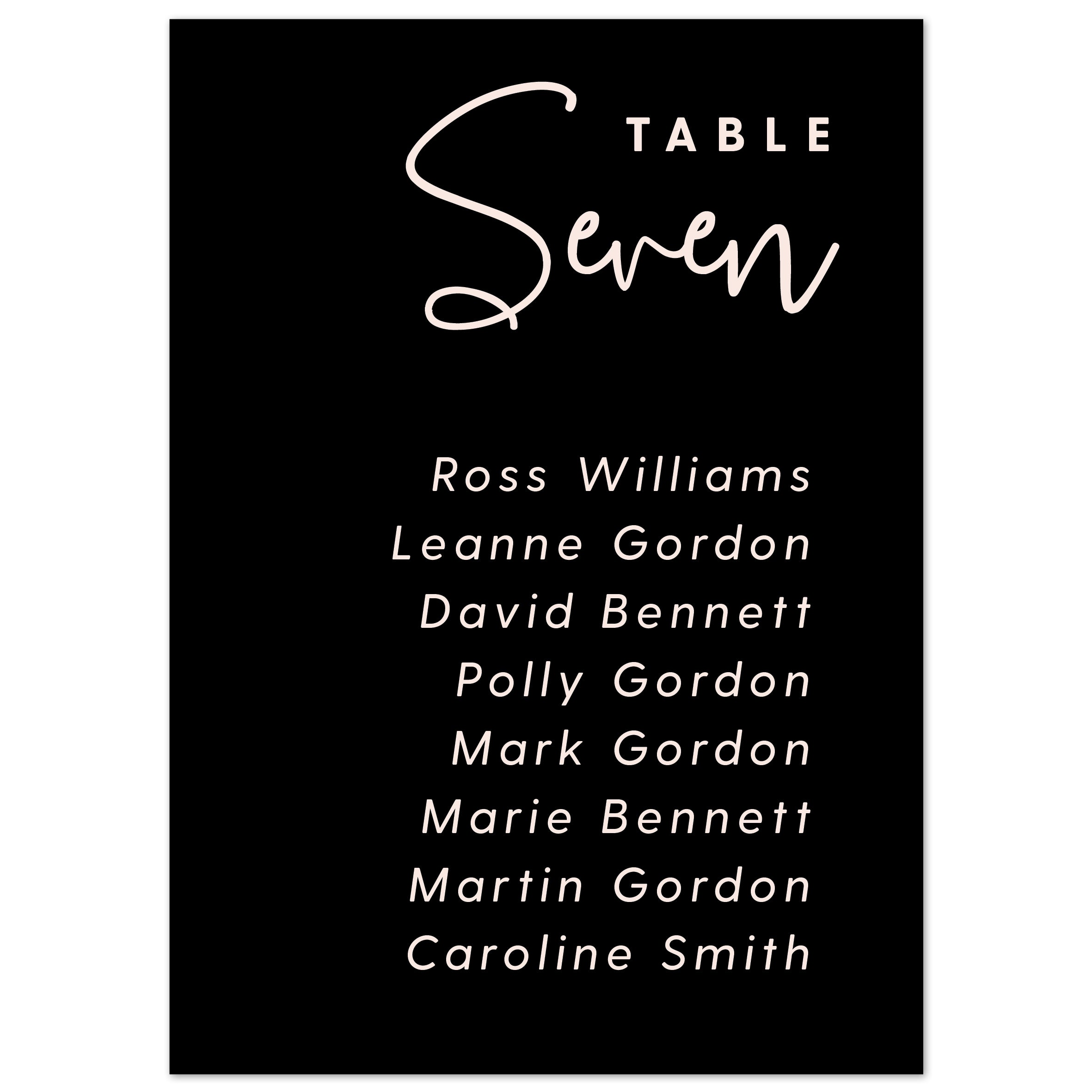 Lexi table plan cards
