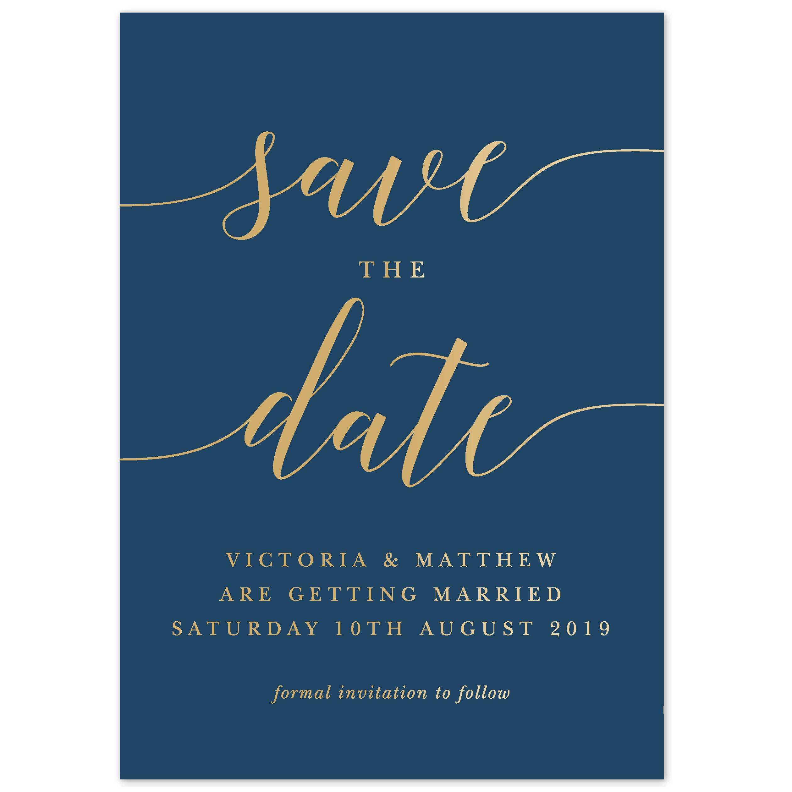 Christmas Save The Date Cards.Ida Foil Save The Date Card
