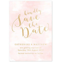 Romance foil save the date card