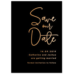 Lexi foil save the date card