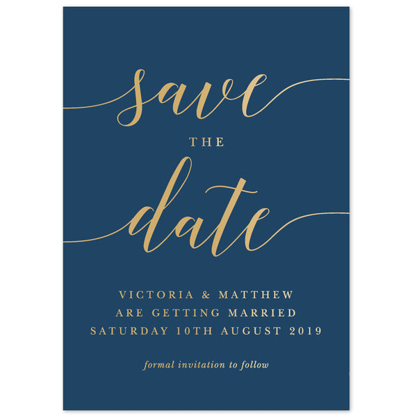 Ida foil save the date card