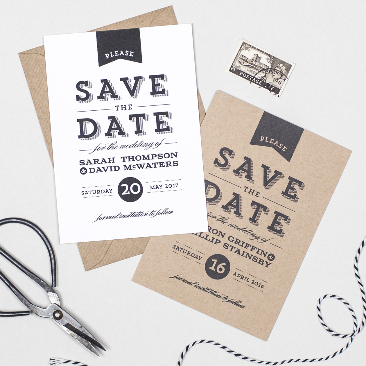 Frankie Vintage Save The Date