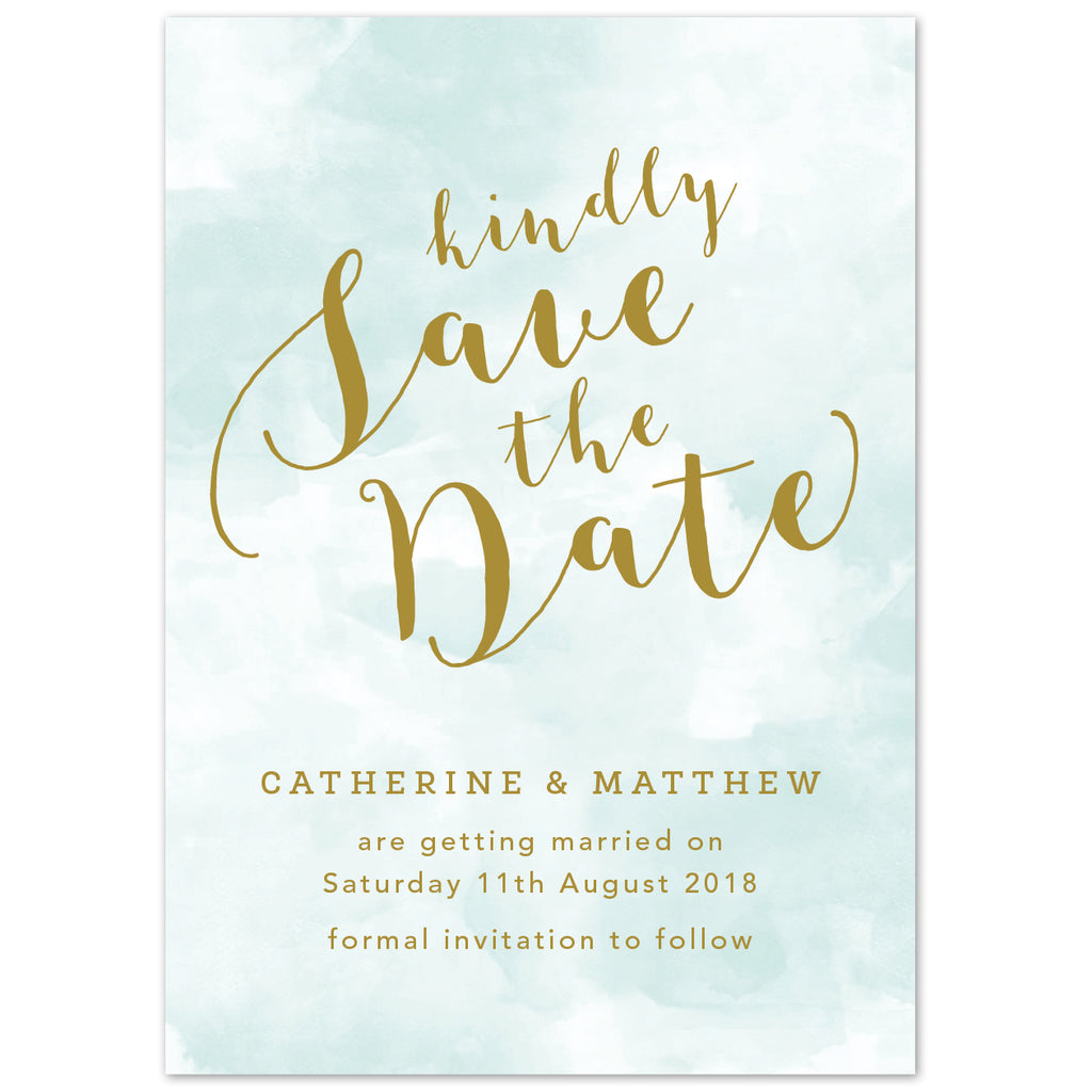 Mint Romance Save The Date